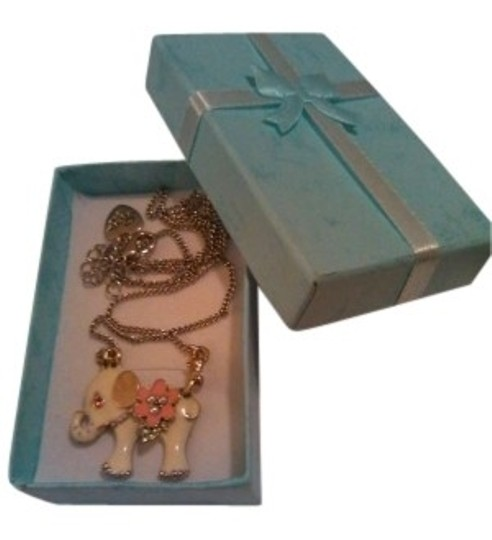 Preload https://item3.tradesy.com/images/betsey-johnson-white-pink-gold-baby-elephant-with-gift-box-necklace-146542-0-0.jpg?width=440&height=440