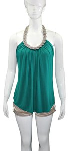 Cable & Gauge Casual PineGreen Halter Top