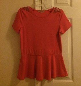 casual couture Top Coral