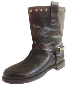 Boemoes Leather Studded Italian dark brown Boots