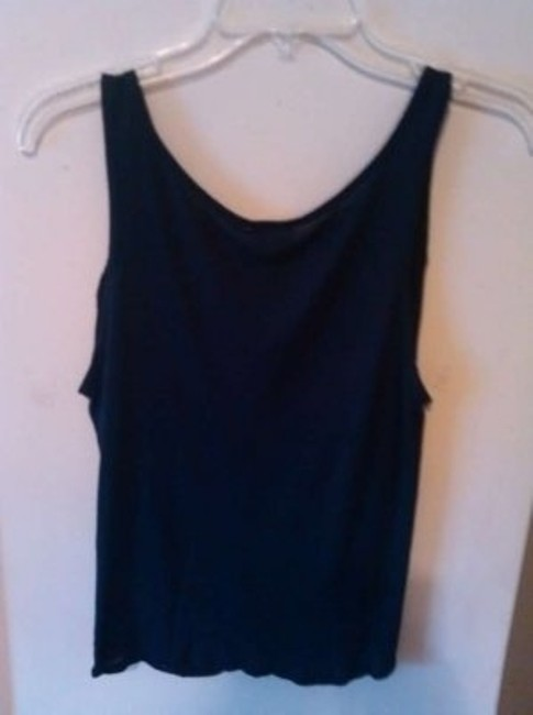 Robin K Flattering Fit Navy Blue Sleeveless Tank Top Blouse Ruched Halter Medium Cotton Dark Summer Spring Boho Bohemian Casual Sexy Sexy Cute Little Flimsy Top Navy blue