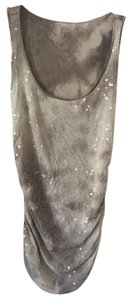 INC International Concepts Night Out Date Night Top Light Gray