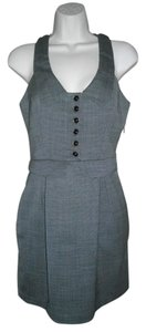 Laila Azhar short dress Olive green Racer Back Tweed Look A-line on Tradesy