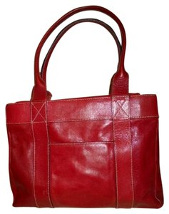 Hype Leather Tote in red