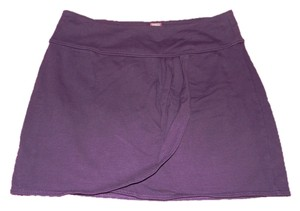 Free People Free Mini Boho Mini Skirt Purple