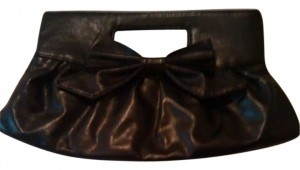 Other Bow 80s 1980s Vintage Retro Purse Casual Classic All Occasion Makeup Carry black Clutch
