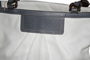 COACH Satchel in WHITE AND GREY