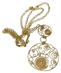 Roberto Coin ROBERTO COIN - Solid 18k Yellow Gold - MAURESQUE SCROLL DIAMOND NECKLACE WITH DOUBLE PENDANT