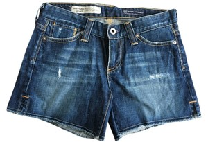 AG Adriano Goldschmied Cut Off Bloomingdales Aged Distressed Denim Shorts-Distressed
