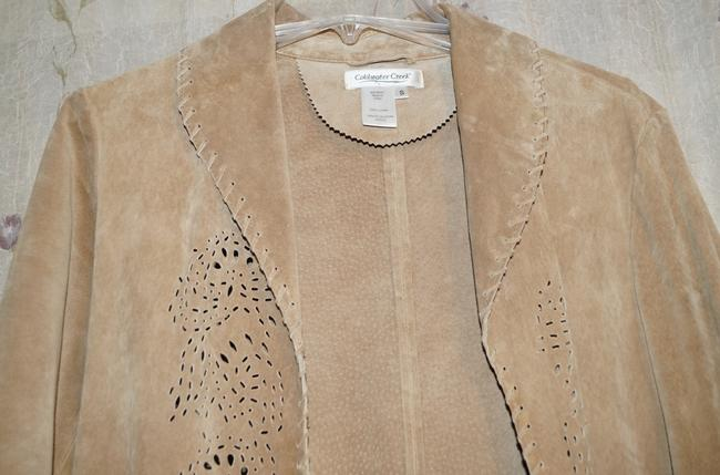 Coldwater Creek Tan Leather Jacket