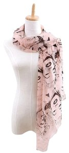 Pinup Scarf ala Marilyn In Pink and Black