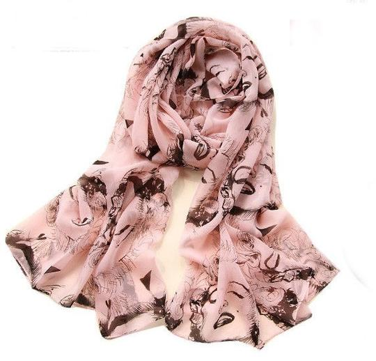 Other Pinup Scarf ala Marilyn In Pink and Black