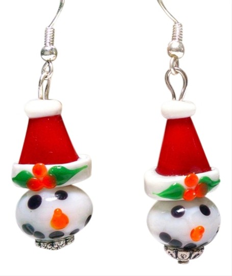Other New Christmas Snowman in Santa Hat Earrings Holiday J442