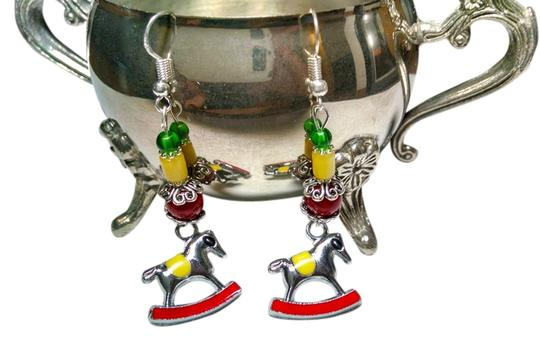 Other New Christmas Rocking Horse Earrings Dangle Holiday J443