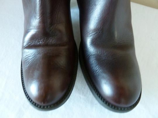 Type Z Leather Biker Brown Boots