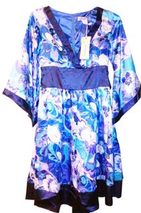 Foompy short dress Blue White Kimono Floral Blue And White on Tradesy