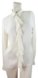 Escada Button Down Shirt Ivory