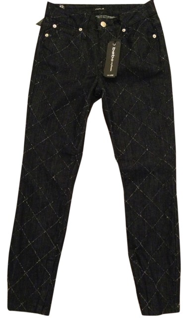 bebe Diamond Pick Ankle Zip Crop Skinny ~ ~ Diamond Pick Skinny ~ New With Tag ~ Ankle Zip Crop ~ Skinny Jeans-Dark Rinse
