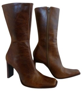 Steve Madden Distressed Leather High Heel Brown Boots
