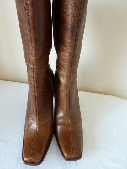 Steve Madden Distressed Leather High Heel Mid-calf Brown Boots