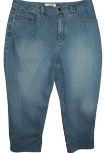 Talbots Crystal Capri Denim Capri Stretch Stretch Denim Capri/Cropped Denim