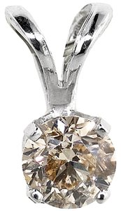 ABC Jewelry Brilliant cut diamond solitaire pendant