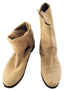 G (bought in Paris) Can Fold Cuffs Very Gently Worn Fawn beige Boots