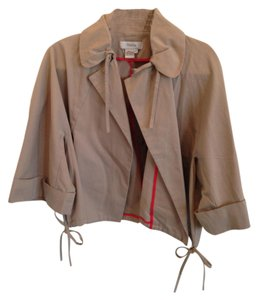 Theme Bell Shaped Cotton Detail Chic Creamy Mocha Grey Jacket