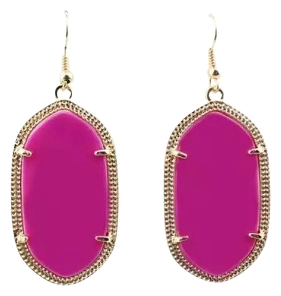fuschia il etsy pink prom earrings fuchsia cvtx hot market