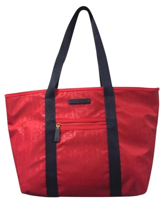 Tommy Hilfiger Red Nylon Tote Tommy Hilfiger Red Nylon Tote Image 1