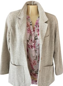 Liz Claiborne Cream/Tan Wool Blazer