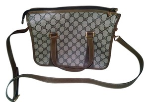 Gucci Vintage Monogram Canvas Cross Body Bag