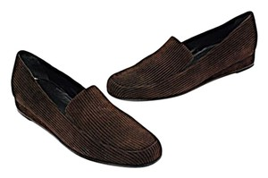 Bruno Magli Corduroy Embossed Loafers Brown Flats