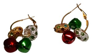 Other Christmas Earrings Holiday Jingle Bells Hoops J444