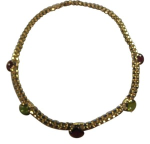 BVLGARI VINTAGE BULGARI BVLGARI 18KT YELLOW GOLD TOURMALINE NECKLACE