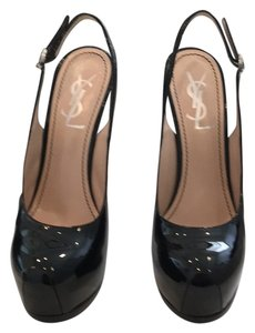 Saint Laurent Blk patent leather Platforms
