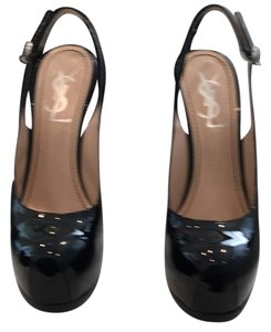Saint Laurent Blk patent leather Pumps