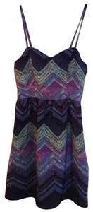 American Eagle Outfitters short dress Blue, purple, green on Tradesy