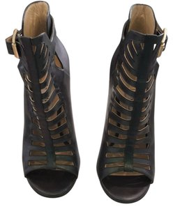Jimmy Choo Metalic dark green leather Pumps
