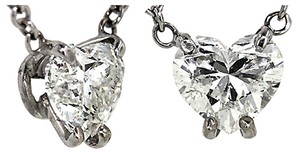 ABC Jewelry Heart shape diamond solitaire pendant