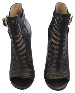 Jimmy Choo Metalic dark green leather Boots