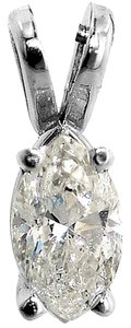ABC Jewelry Marquise shape diamond solitaire pendant