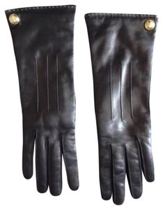 Coach Coach Cashmere Lined Leather Gloves