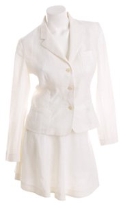 Ralph Lauren ralph lauren collection white skirt suit size 10 jacket/4 skirt