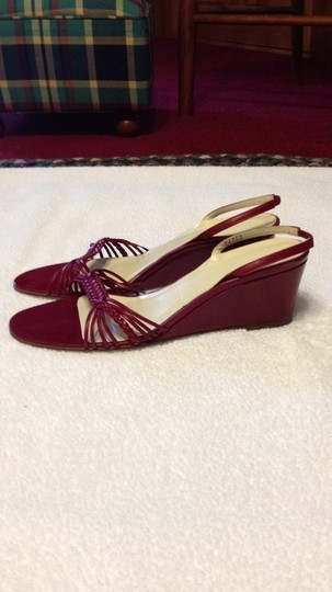J.Crew Italian Sling Backs Red leather Wedges