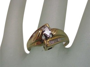 Vintage 14k Yellow Gold .61cttw Marquise and Baguettes Diamond ring ,1960's