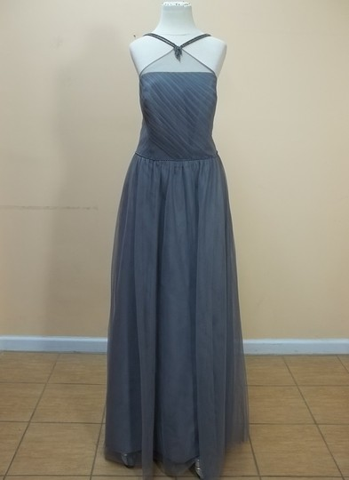 Alfred Angelo Morning Fog Soft Net 8621l Formal Bridesmaid/Mob Dress Size 14 (L)