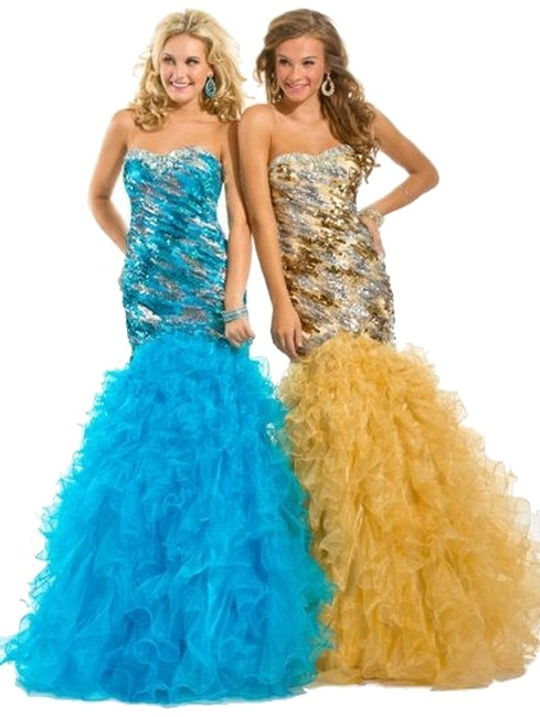 Party Time Formals New Mermaid Prom 6025 Size 6 Dress