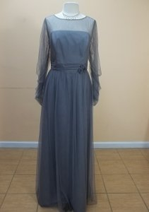 Alfred Angelo Morning Fog Soft Net 8622l Formal Bridesmaid/Mob Dress Size 16 (XL, Plus 0x)