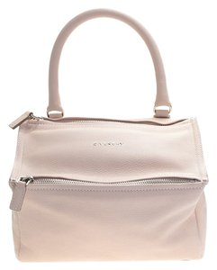 Givenchy Leather Pandora Satchel in Nude